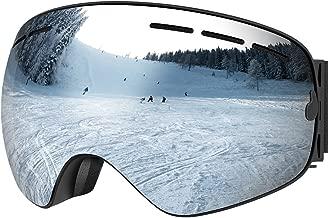 UShake Ski Goggles, Snow Goggles, Snowboard Goggles with Matte Anti-Fog Anti-Scratch 100% UV Protection Lens TPU Frame