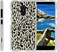 Compatible with ZTE Imperial Max Case | Max Duo Case [Slim Duo] Ultra Slim Lightweight Matte Finish Hard 2 Piece Cover Protector on White by TurtleArmor - Fainted Leopard Print