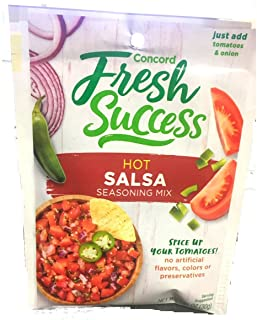 Concord Foods, Salsa Mix, Hot, 1.06oz Packet (Pack of 6)