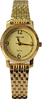 Gold Dial Analog Watch For Women(87018Ym02)