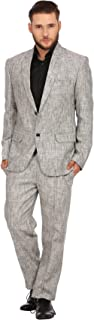 Men's 100% Linen Notch Lapel All Season Natural Color Suit