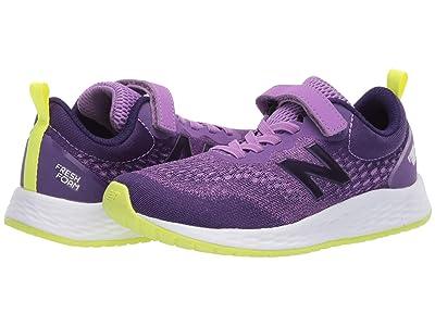 New Balance Kids Fresh Foam Arishi v3 Bungee (Little Kid/Big Kid) (Neo Violet/Black Plum) Girls Shoes