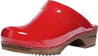 Sanita Classic Patent Mule Clog | Original Handmade Wooden Leather Clog for Women