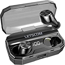 Wireless Earbuds, Letscom 80 Hrs Playtime, IPX6 Waterproof Headphones with Wireless Charging Case, Bluetooth 5.0 HD Stereo...