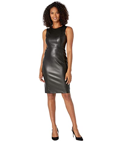 Calvin Klein PU Sheath Dress (Black) Women