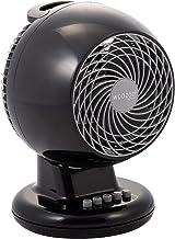 Iris Ohyama - Ventilateur puissant et silencieux avec oscillation - Woozoo PCF-M15 Noir - 13 m², 22 x 20 x 30 cm