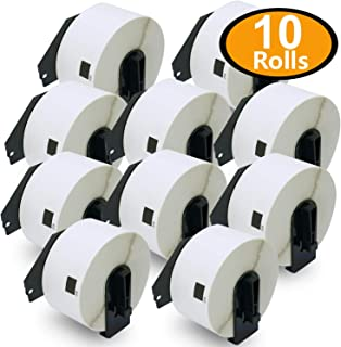BETCKEY - 10 Rolls Compatible Brother DK-1208 Large Address Labels 1-1/2