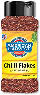 American Harvest Chilli Flakes In Jar, 150 gm