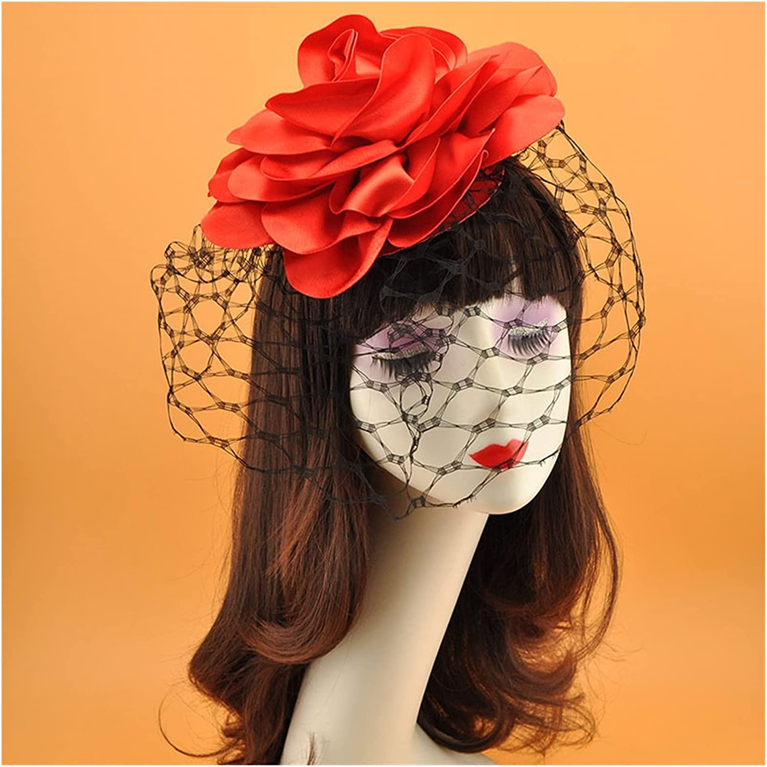 chenfeng Bridal Veil hat New Satin Hair Clip V Topics on TV Big Flower Some reservation