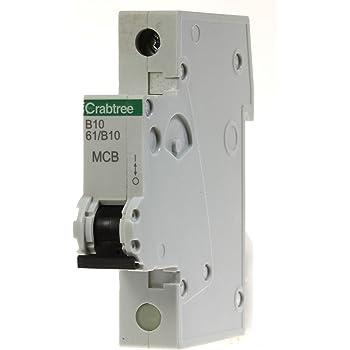 Crabtree Loadstar MCB 6kA Circuit Breaker Type B B6 B10 B16 B20 B32 B40 B50 Amps