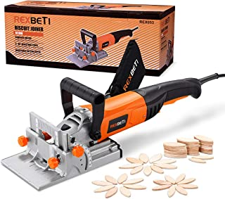 REXBETI Wood Biscuit Plate Joiner Kit with 4 Inch Tungsten Carbide Tipped Blade and..