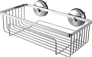 YOHOM Cesta de baño Ducha Libre de óxido Organizador de baño titular Estanterías para baño No taladro estantes para cocina acero inoxidable Acabado Cepillado