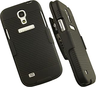 Black Hard Case + Belt Clip Holster Stand For Samsung Galaxy S4 Mini I9190 I9195