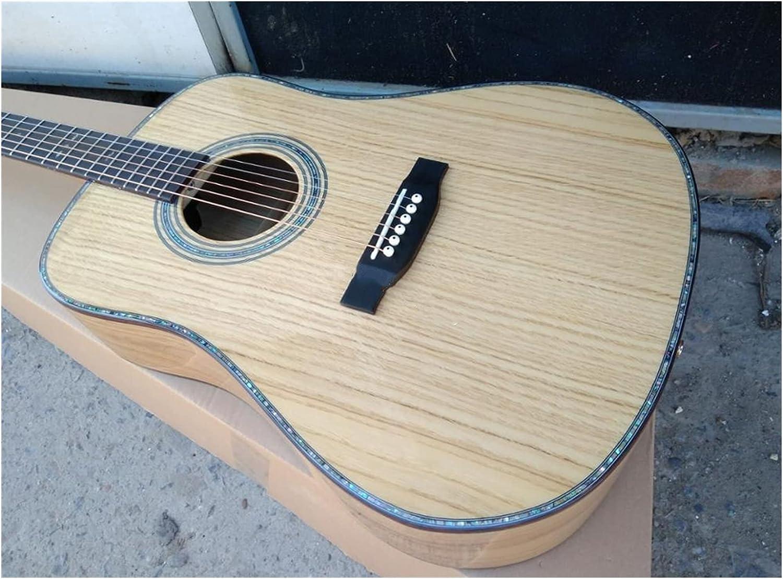 Guitarra Todos los sólidos europeos de Oakwood Guitar Dreadnought Body Abolone Custom Hecho a mano 14 Frete 41 pulgadas Guitarra acústica adecuada para jugadores en todas las etapas. guitarra de mader