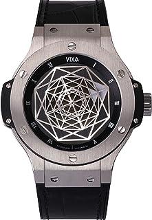 VIXA 機械式 腕時計 自動巻 ミリタリー ウォッチ 防水 アリゲーターストラッブ サファイア ダイヤル ドイツ空軍 1930年代 メンズ VTMC241115 (Silver)