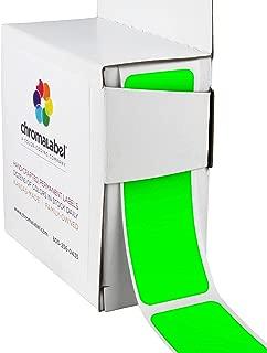 ChromaLabel 1 x 3 inch Color-Code Labels | 100/Dispenser Box (Fluorescent Green)