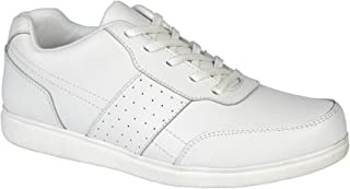 Dek Mens Strike Coated Leather Lace Up Lawn Bowls Style Shoes
