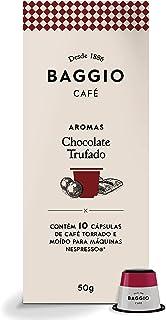 Cápsulas de Café Aroma Chocolate Trufado Baggio Café, compatível com Nespresso, contém 10 cápsulas