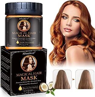 Argania Mascara Para Pelo, Hair Mask,Mascarilla Cabello, 5 segundos Reparaciones Dañar la raíz del cabello, acondicionador profundo adecuado para cabello seco y dañado-60ml