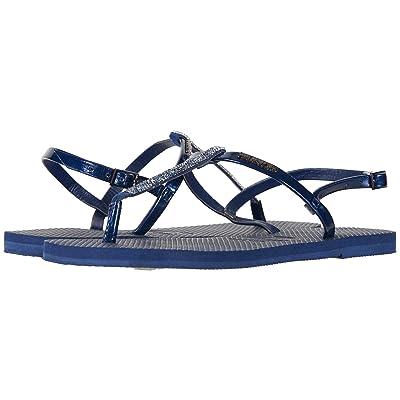 Havaianas You Riviera Crystal Sandals (Navy Blue) Women