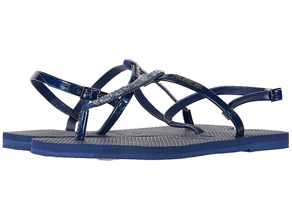 Havaianas You Riviera Crystal Sandals (Navy Blue) Women