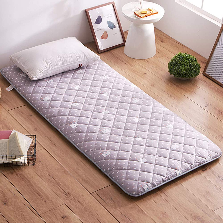 Student Dormitory Tatami Mattress,1.5 Single 0.9m Bed 1.2 m Floor mat Sleeping pad dust Ruffle Elastic Solid Foldable Cushion mats-B 120x200cm(47x79inch)