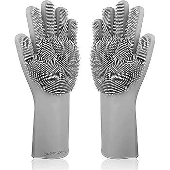 KITCHENGRAM SKYCANDLE Silicone Cleaning Hand Gloves (Free Size, Grey)