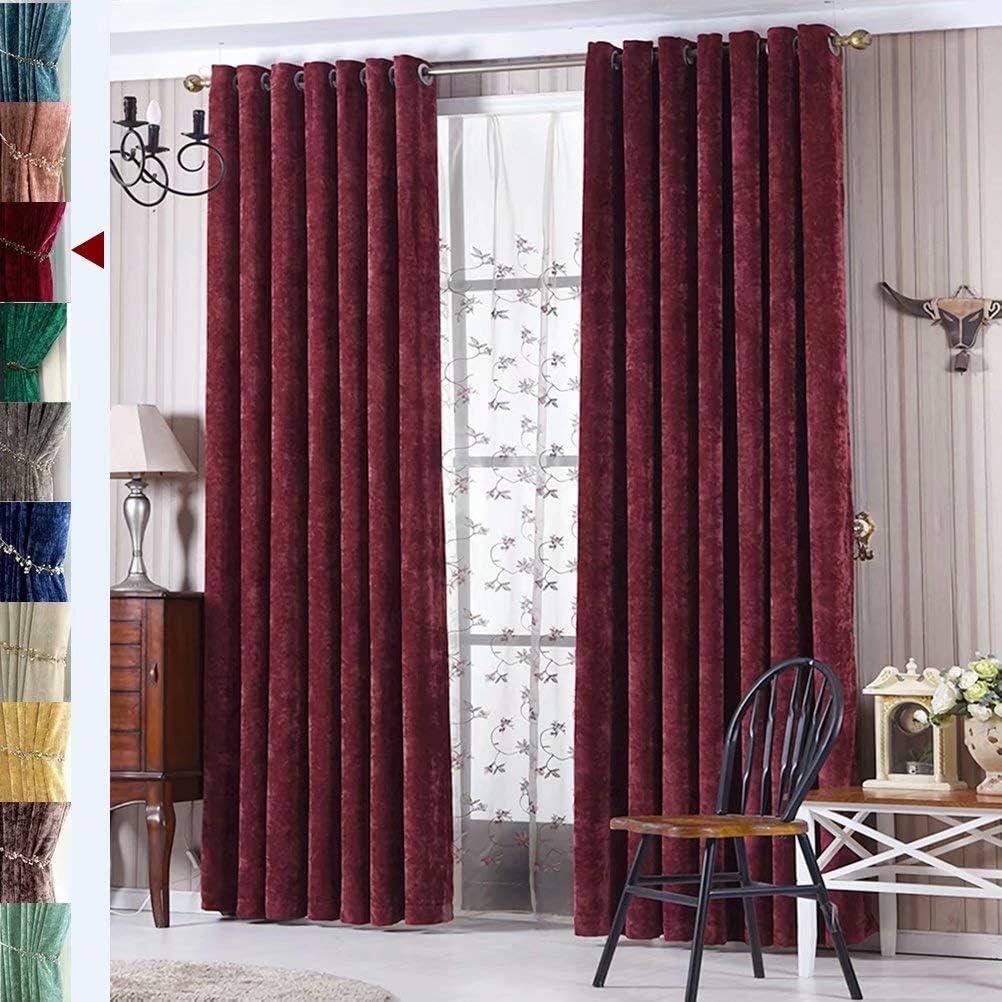 MacoHome Beauty products Red Bedroom Curtain Panels Room Darkening Custom Nippon regular agency Velvet