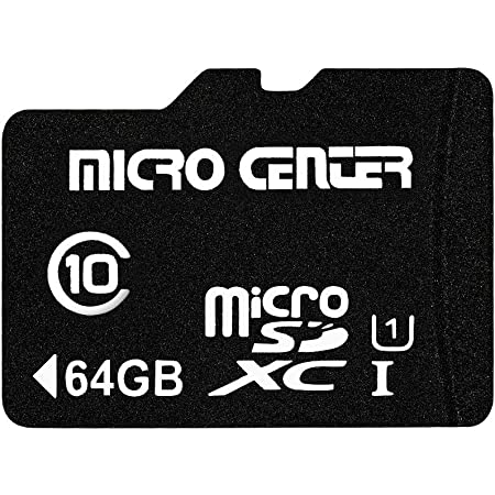 Micro Center 64GB Class 10 MicroSDXC Flash Memory Card with Adapter for Mobile Device Storage Phone, Tablet, Drone & Full HD Video Recording - 80MB/s UHS-I, C10, U1 (1 Pack)