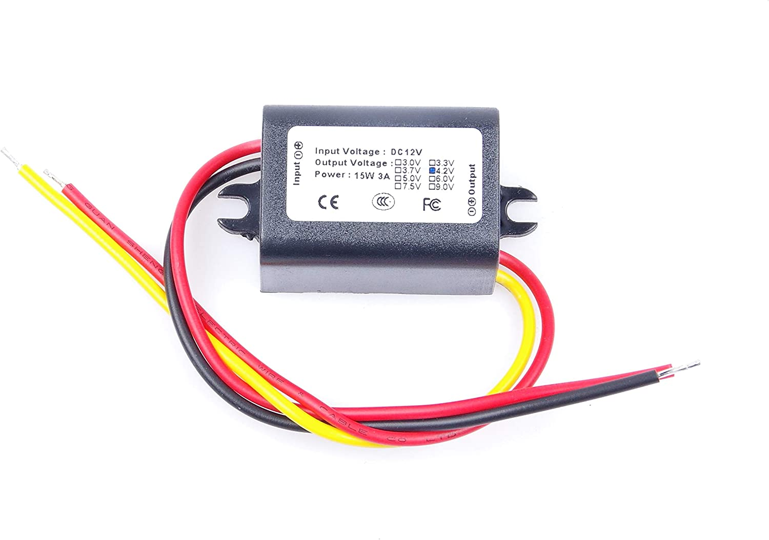 KNACRO DC-DC Convert 12V 7.2V- 24V to 4.2V 3A 12.6W Step-Down Power Supply Module Power Converter Module Synchronous Buck with Reverse Connection Protection