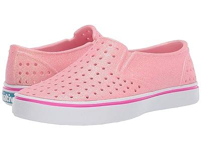 Native Kids Shoes Miles Bling (Little Kid) (Lantern Pink Bling/Shell White) Girls Shoes
