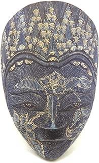 Wooden Batik Mask Hand Carved Wood Bali Art Wall Decor Mask 12