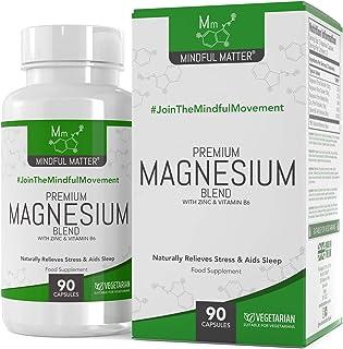 Fórmula de Magnesio 330 mg - Magnesio en 3 Tipos Diferentes Altamente Biodisponible - GLICINATO, TAURATO & MALATO + Vitamina B6 y Zinc - Activo por Dosis (90 Capsulas Vegetarianas)