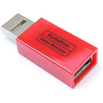 PortaPow 3rd Gen USB Data Blocker (Red)
