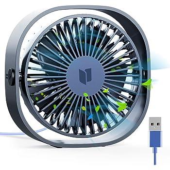 Jovego Mini Ventilador USB, Portátil Ventilador USB de Mesa Regulable en 3 Velocidades, Puede Poner Aceites de Aromaterapia, Ruido Bajo, para Coche, Oficina, Hogar, Viajes, Camping (Negro): Amazon.es: Hogar
