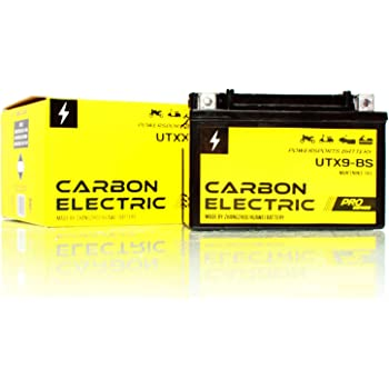 Carbon Electric Batterie YTX5L-BS AGM UTX5L-BS Motorradbatterie 12V 4Ah Motorrad Roller Rollerbatterie