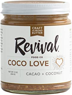 Sponsored Ad - Coco Love Almond Butter By Revival Food Co with Organic Cacao Nibs. Low Carb / Low sodium / Keto / Paleo / ...