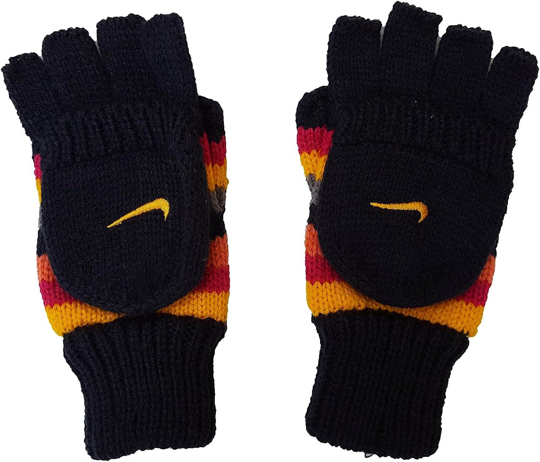 Nike Boy's Attached-Mitten Knit Swoosh Gloves