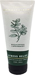 Bath & Body Works Aromatherapy Stress Relief Eucalyptus Spearmint Body Cream 8 Ounce