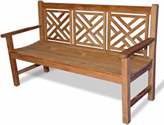 GOLDENTEAK Teak Chippendale Bench 5 Ft