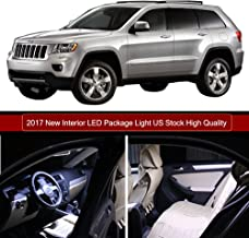 SCITOO 10Pcs White Interior LED Light Package Kit Replacement Bulbs Fits for Jeep Grand Cherokee 1998-2004