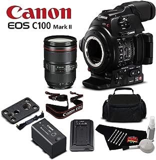Canon EOS C100 Mark II Dual Pixel CMOS AF & EF 24-105mm f/4L is II USM Zoom Lens Kit International Version - Bronze Level Bundle
