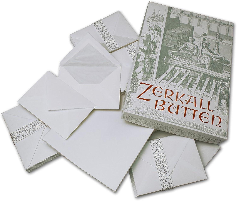 200 teiliges exklusives Brief-Set aus echtem Büttenpapier von ZERKALL   100x Bogen A4 & 100xUmschläge C6 (gefüttert)   Ideales Schreibseit für gehobene Korrespondenz B00R6DYCWG      Guter weltweiter Ruf