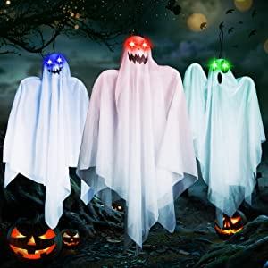 3 Pack Halloween Hanging Ghosts Decorations - 26.7