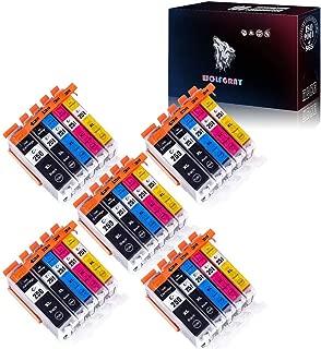 Wolfgray 25 PK Compatible Ink Cartridge PGI-250XL CLI-251XL for PIXMA MX922 MG5522 MG5620 MG6620 MG6600 MX920 iX6820 iP7220 (5Large BK+5BK+5C+5M+5Y) (5set)