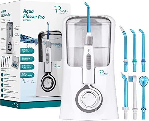wholesale Pure Daily online Care Aqua Flosser Pro with 3 Modes discount and 5 Pressure Settings, Comes with 12 Attachments outlet sale