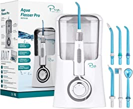 Pure Daily Care Aqua Flosser Pro with 3 Modes and 5 Pressure Settings, Comes with 12 Attachments
