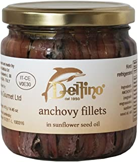 Delfino Battista Anchovies Fillet in Oil from Cetara, Italy | 14.5 Ounce