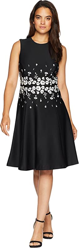 Embroidered Waist Fit & Flare Dress CD8M14PA