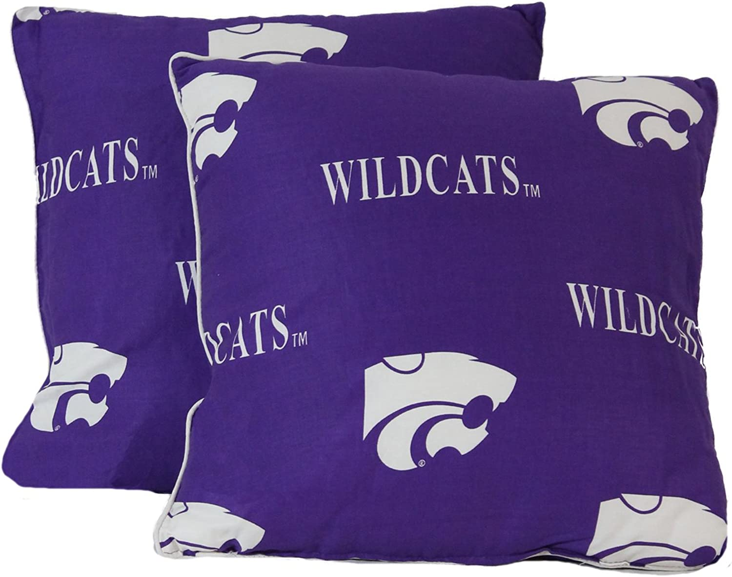 College Covers Kansas State Wildcats Pair Decorative Pillow, 16 16
